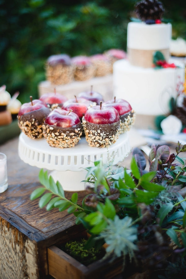 Wedding Dessert| Winter Winery Wedding | Amy Millard Creative Studio