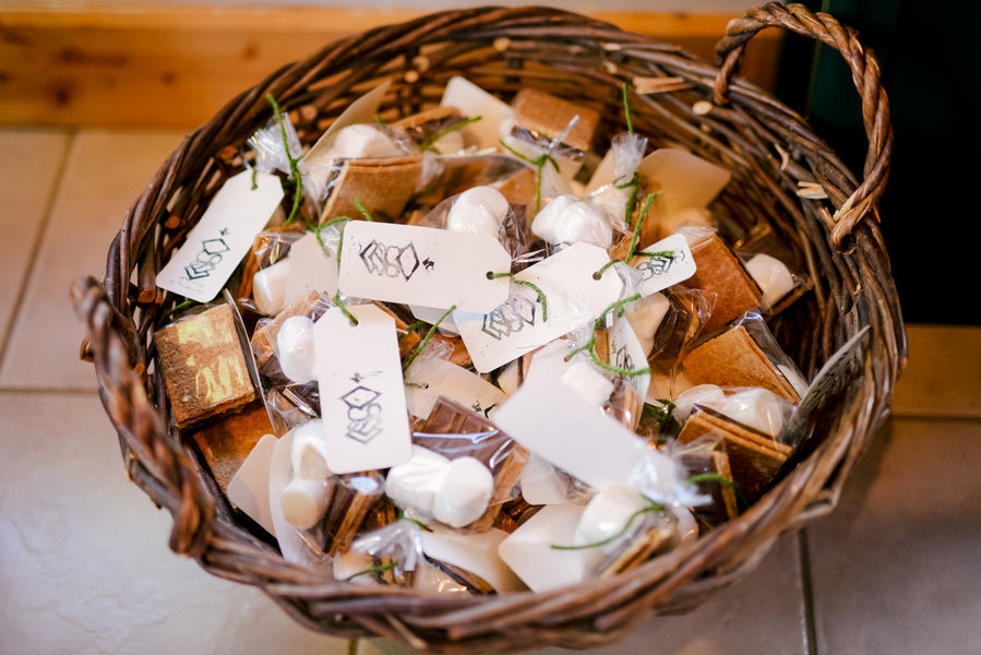 Smore Wedding Favor | A Green and White Garden Wedding | Jeannine Marie Photography