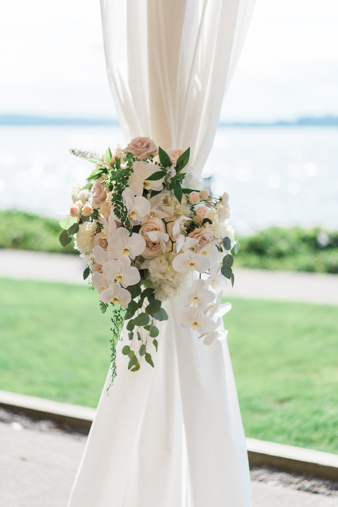 Wedding Flowers | A Grand Wedding On The Water | Kate Aspen