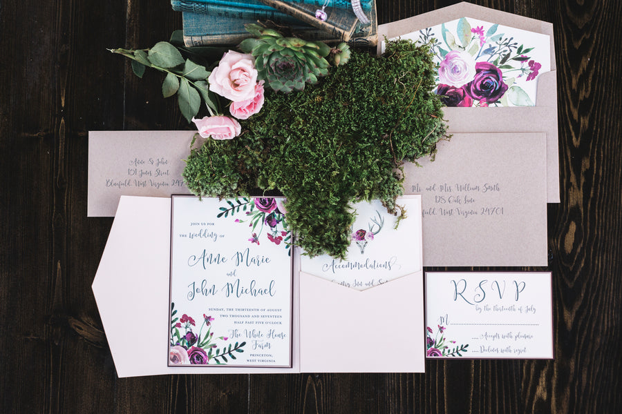 Wedding Invitations | Details For The Perfect Floral Wedding | Kate Aspen