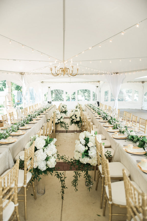 Wedding Reception | A Simple & Sweet Garden Wedding | Kate Aspen