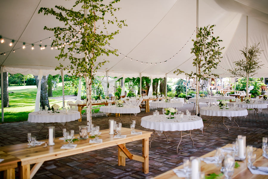 Wedding Reception | A Green and White Garden Wedding | Jeannine Marie Photography