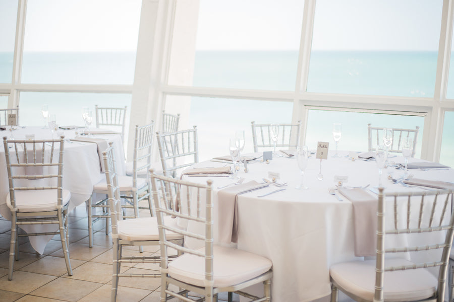 Wedding Reception | Kennedy Grace Photography | Tips for the Perfect Beach Wedding | Kate Aspen