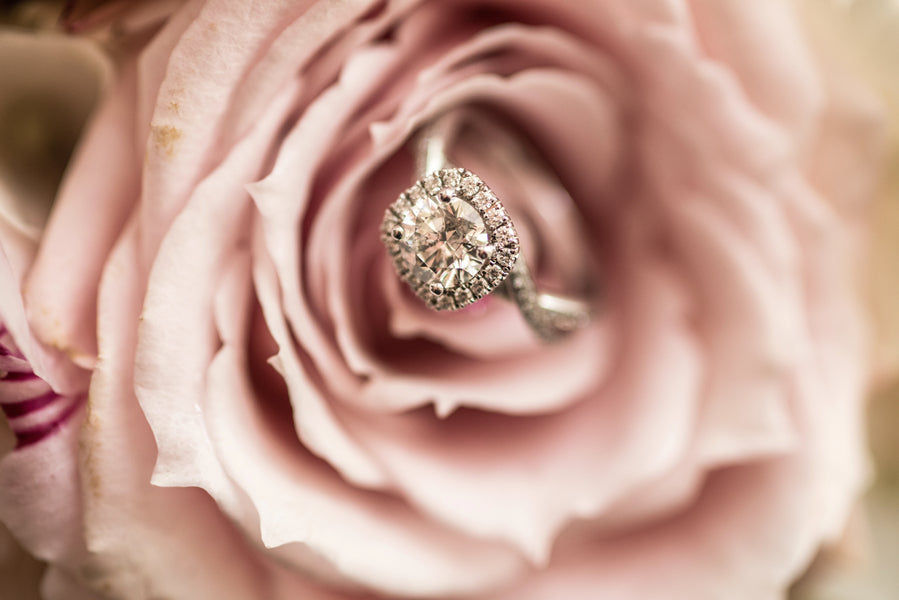 Wedding Ring in Pink Rose | A Beautiful Blush Wedding | Kate Aspen