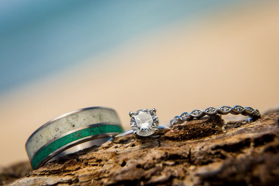 Wedding Rings | A Destination Wedding Weekend in Mexico | Kate Aspen