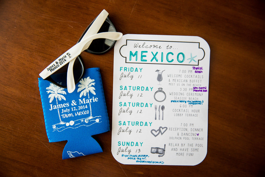 Weekend Plans and Favors | A Destination Wedding Weekend in Mexico | Kate Aspen