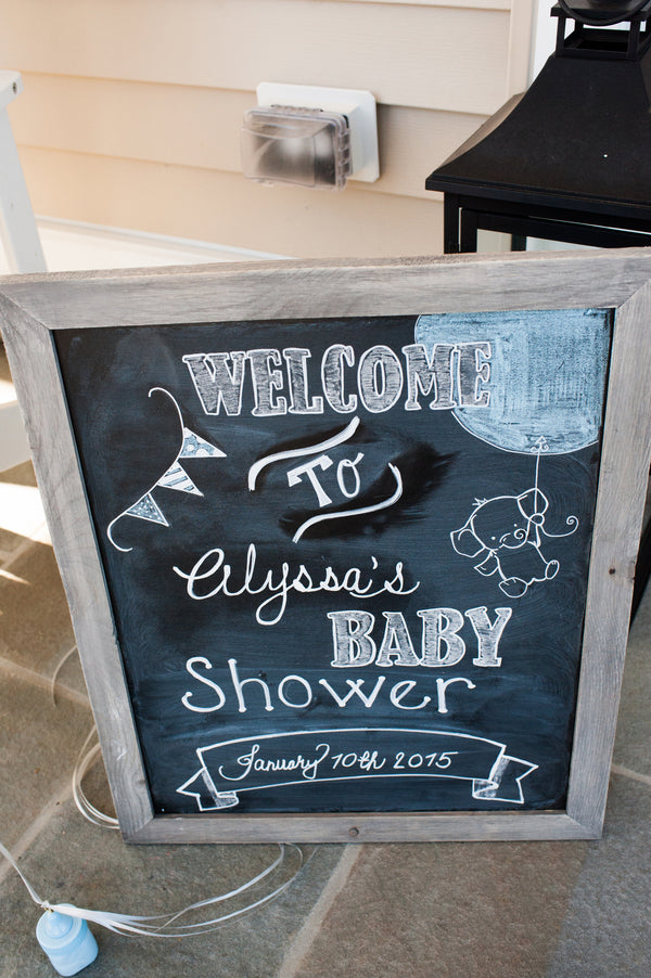 Welcome to Alyssa's Baby Shower Sign | Alyssa Renee Photography