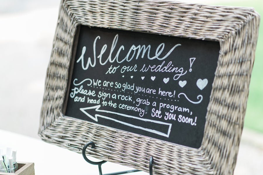 Welcome Wedding Sign | Blissful Garden Wedding Details | B. Jones Photography