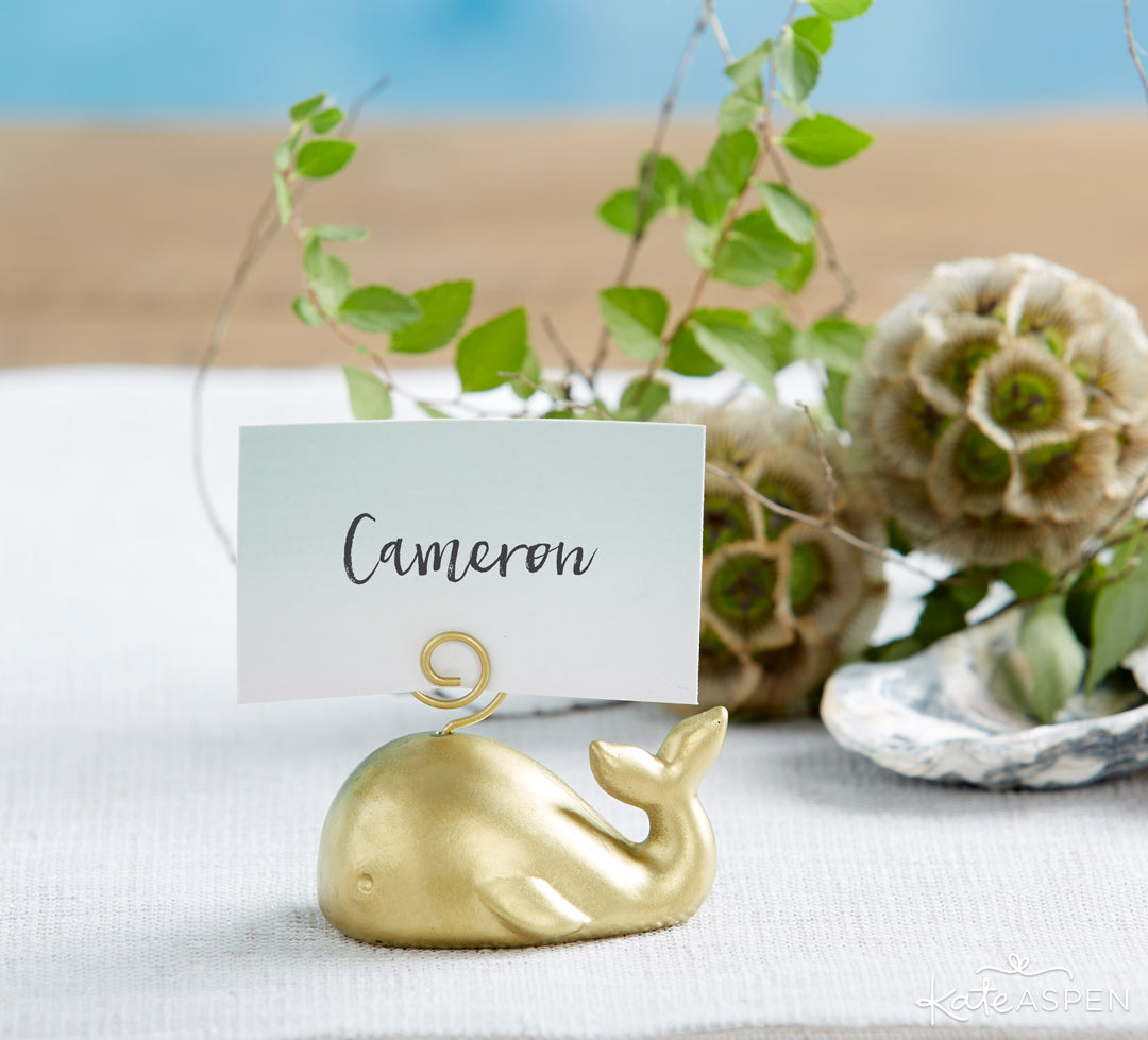 Whale Place Card Holder | 10 Coastal Favors & Decor For A Seaside Escape | Kate Aspen