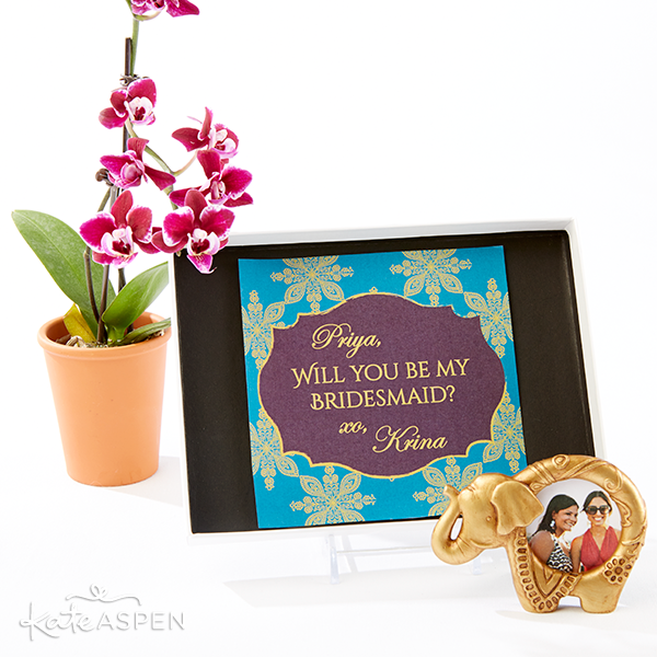 Will You Be My Bridesmaid Printable and Elephant Frame | Kate Aspen