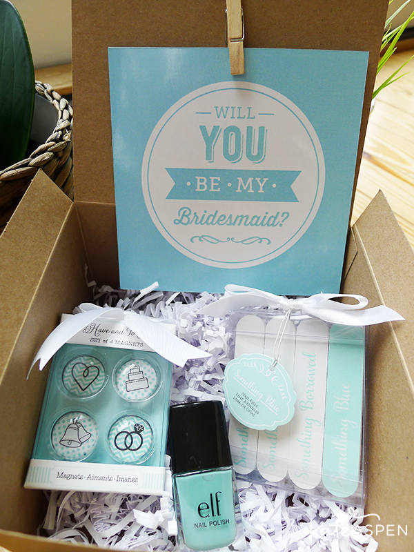 Will you be my bridesmaid gift box something blue gifts