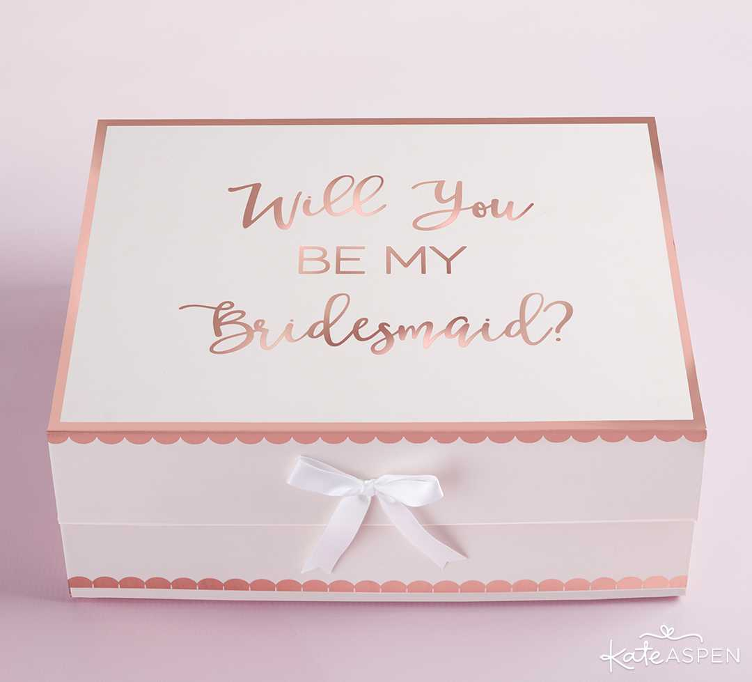 Will You Be My Bridesmaid Kit Gift Box | Curate Your Own Bridesmaid Proposal Kit + A Giveaway | Kate Aspen