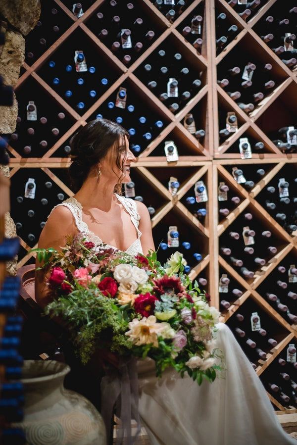 Wine Cellar| Winter Winery Wedding | Amy Millard Creative Studio