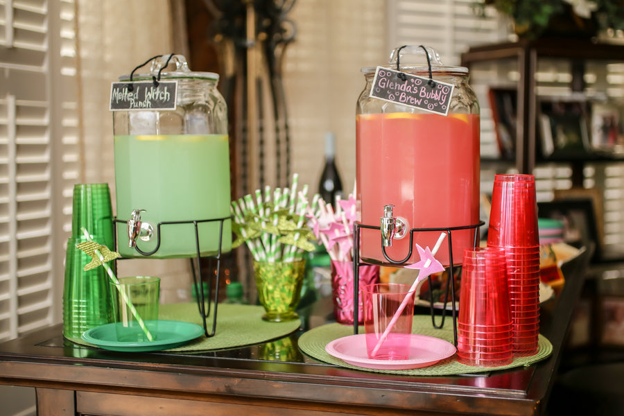 Wizard of Oz Drink Stations | A Wizard of Oz Baby Shower | Life Long Studios Photography | Kate Aspen