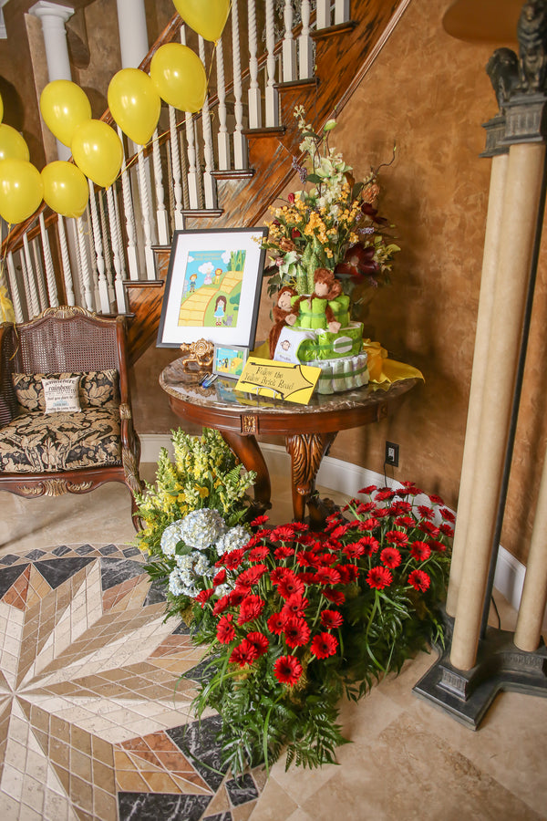 Field of Poppies Foyer | A Wizard of Oz Baby Shower | Life Long Studios Photography | Kate Aspen