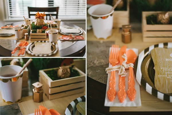 Woodland Place Setting| Jessica Charles Photography