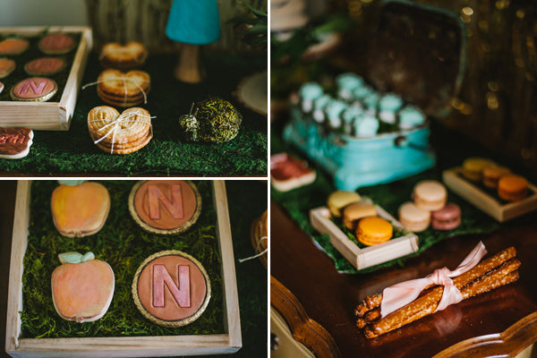 Woodland Themed Desserts| Jessica Charles Photography