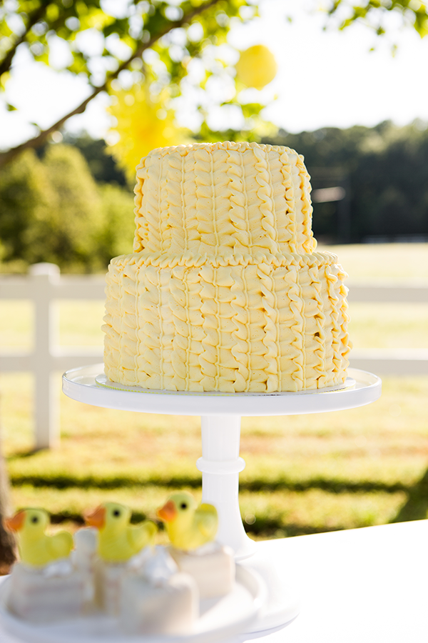 Yellow Ruffle Cake | Little Duckling Adoption Party by Sweet Georgia Sweet