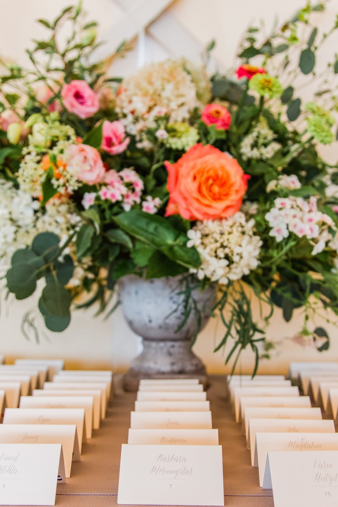 Place Card Holders | A Scenic Wedding Off the Coast of Rhode Island | Kate Aspen