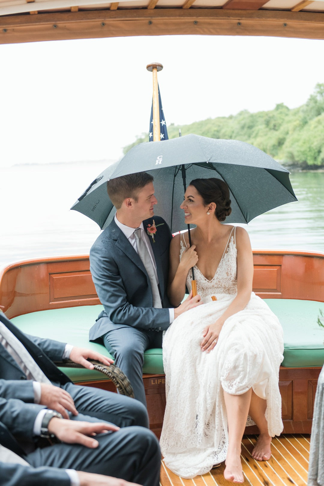 Bride and Groom | A Scenic Wedding Off the Coast of Rhode Island | Kate Aspen