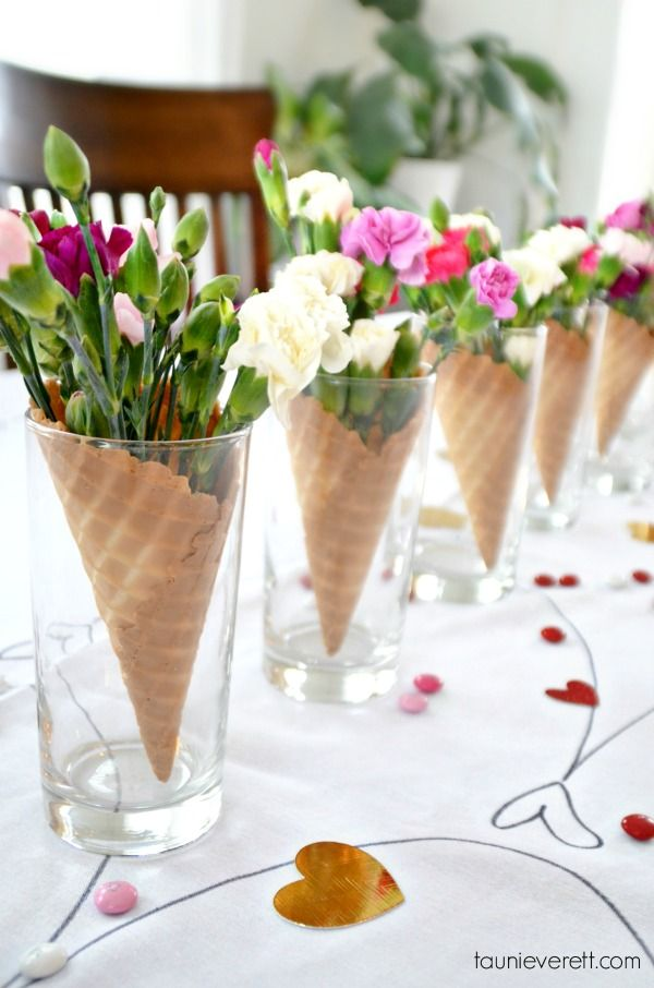 Ice Cream Cone Centerpieces | 8 Simply Sweet Party Ideas | Kate Aspen