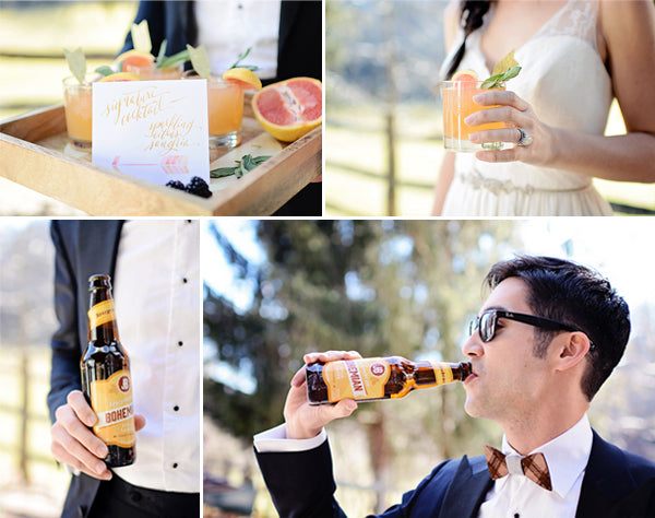 Signature drinks for a boho wedding | Catrina Earls Photography