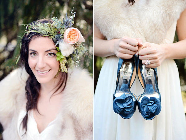 Boho bridal style complete with a flower crown | Catrina Earls Photography