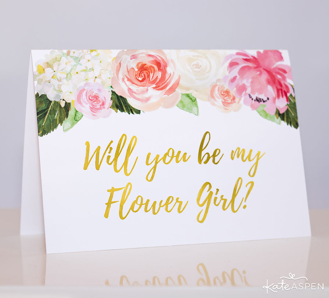 """Will You Be My Flower Girl?"" Card 