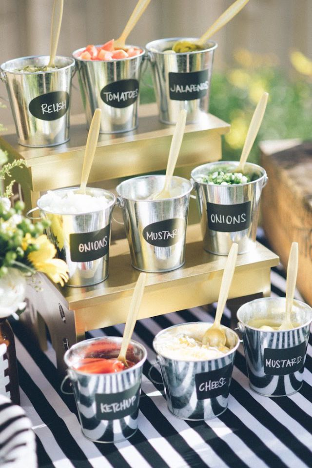Condiment Bar | Creating The Perfect Backyard BBQ | Kate Aspen