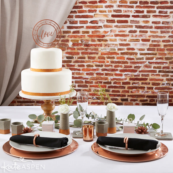 An Insustrial Wedding Copper and Concrete Wedding Collection from Kate Aspen