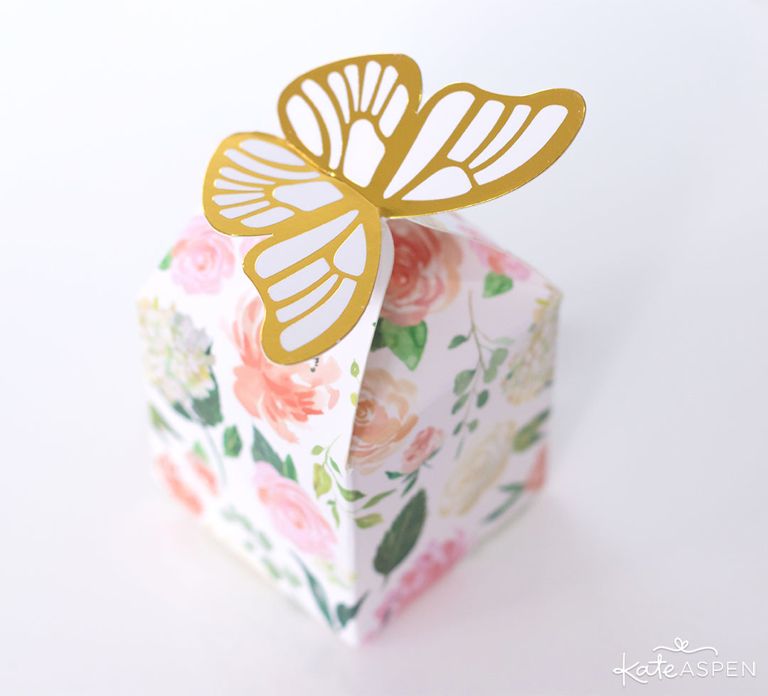 Butterfly Floral Favor Box | How To Ask Your Flower Girl + DIY Gift Basket | Kate Aspen