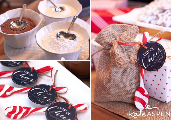 Cookies and Cocoa Party by Kate Aspen | Cookie Swap Ideas | Hot Chocolate Recipe | Hot Chocolate Favors | Hot Chocolate Bar Free Printables | Kate Aspen Blog