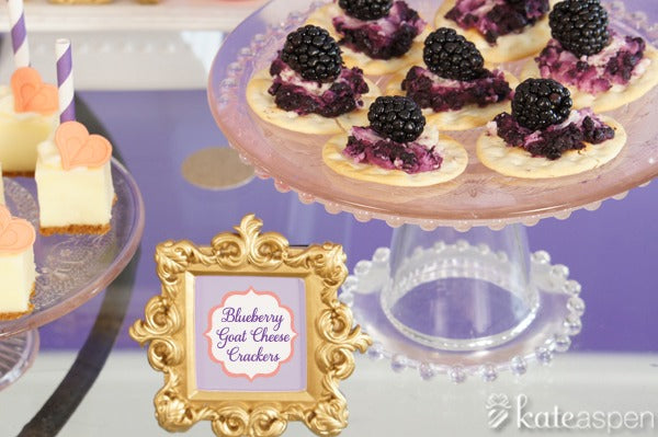 goat cheese | love party ideas | dessert party ideas | radiant orchid inspiration | blog.kateaspen.com | kateaspen.com | valentines day ideas | bridal shower ideas | #kateaspen #radiantorchid #DIY #dessertbar #bridalshower