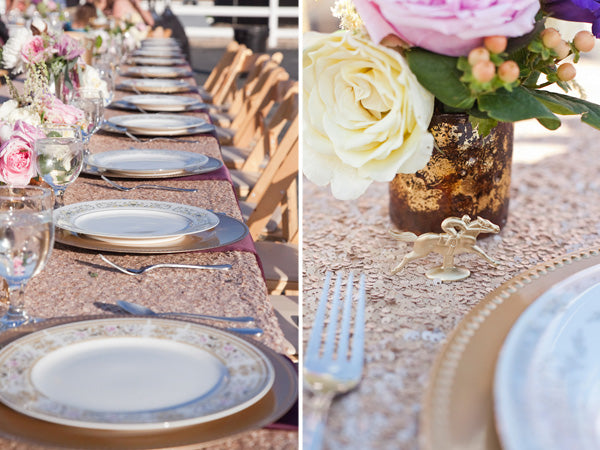 Gold wedding estate table | Tana Photography