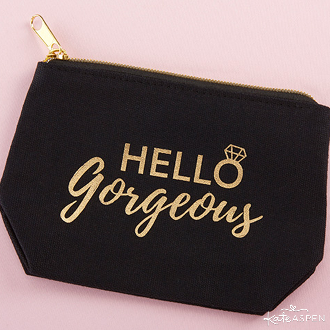 Hello Gorgeous Canvas Makeup Bag | 6 Gifts Your Bridesmaids Will Love | Kate Aspen