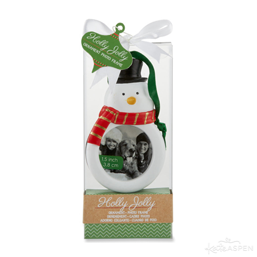 Holly Jolly Snowman Ornament Frame | Kate Aspen | Stocking Stuffers for the Holidays