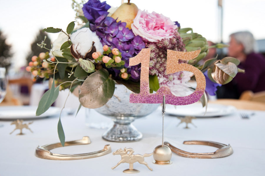 Horse themed table decor | Tana Photography