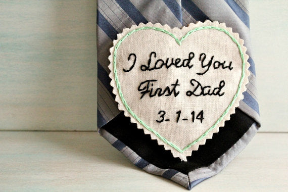 Father of the Bride gift idea - A personalized tie! | by Sew Happy Girls