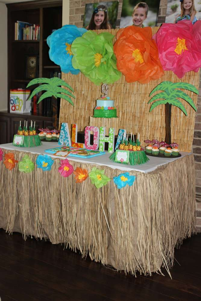 A Hawaiian Luau | 10 Unique and Interesting Birthday Party Themes | Kate Aspen