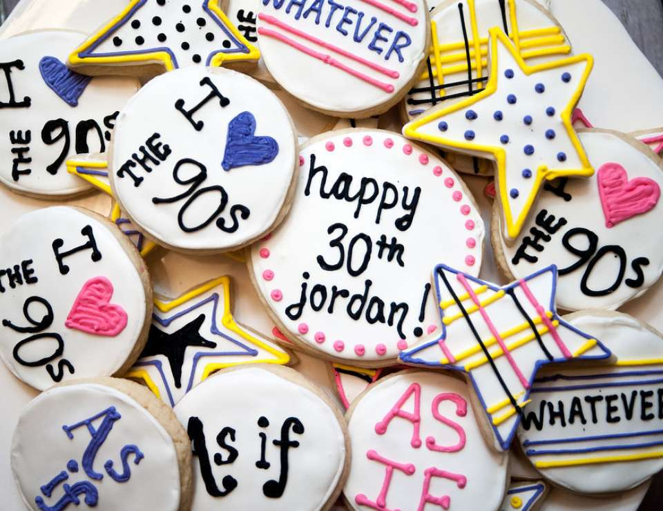 90s Party Theme | 5 Fun Themes for Your 30th Birthday | Kate Aspen