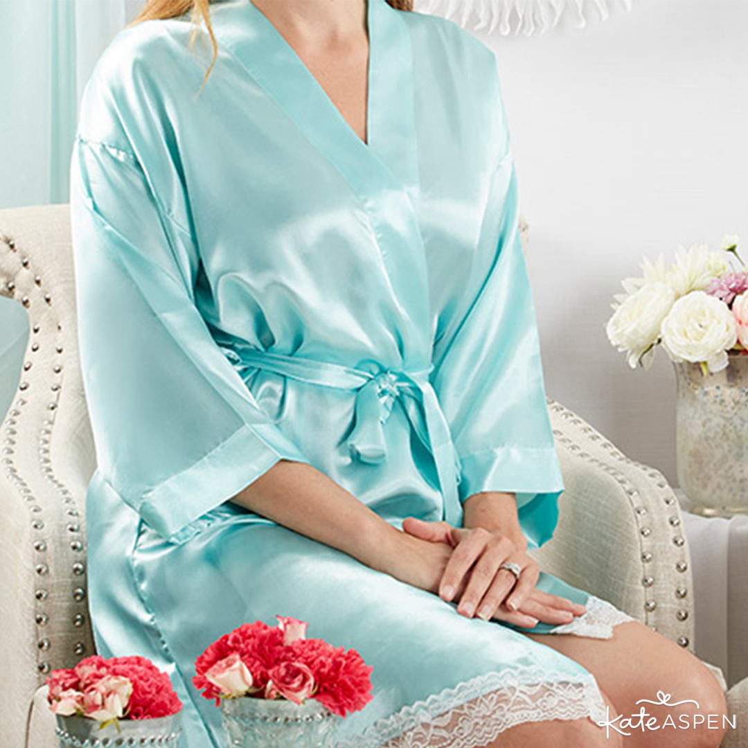 Elegant Lace Kimono Robe | 6 Gifts Your Bridesmaids Will Love | Kate Aspen
