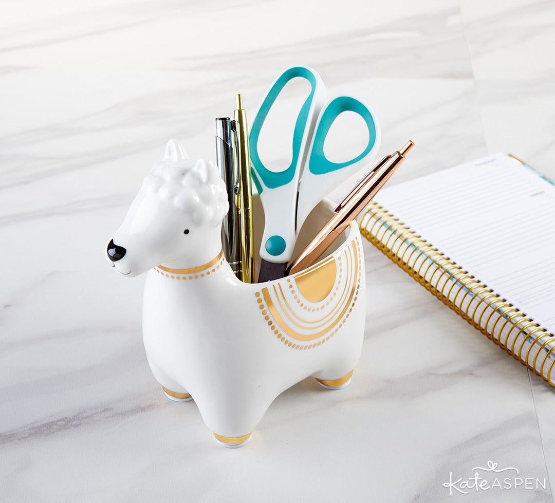 Llama Ceramic Phone Amplifier | Back to School Tech Gifts for Everyone | Kate Aspen