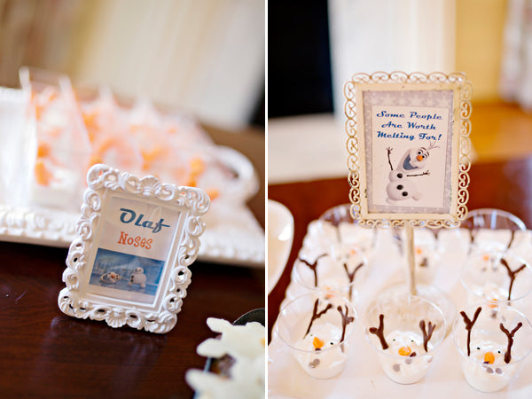 Olaf-themed Frozen party food - Andie Freeman Photography