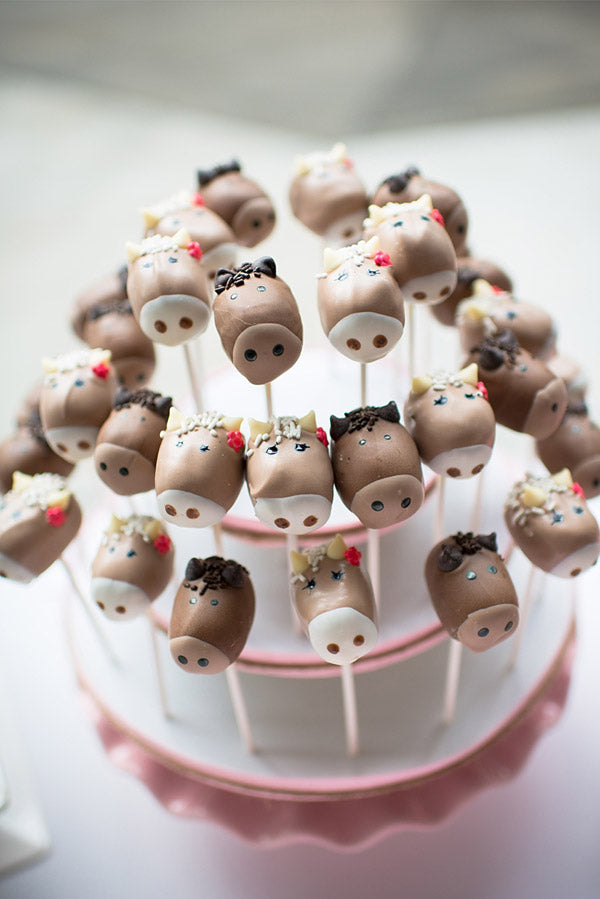 Pony Cake Pops by Sugar Krystle's via Hoopla Events