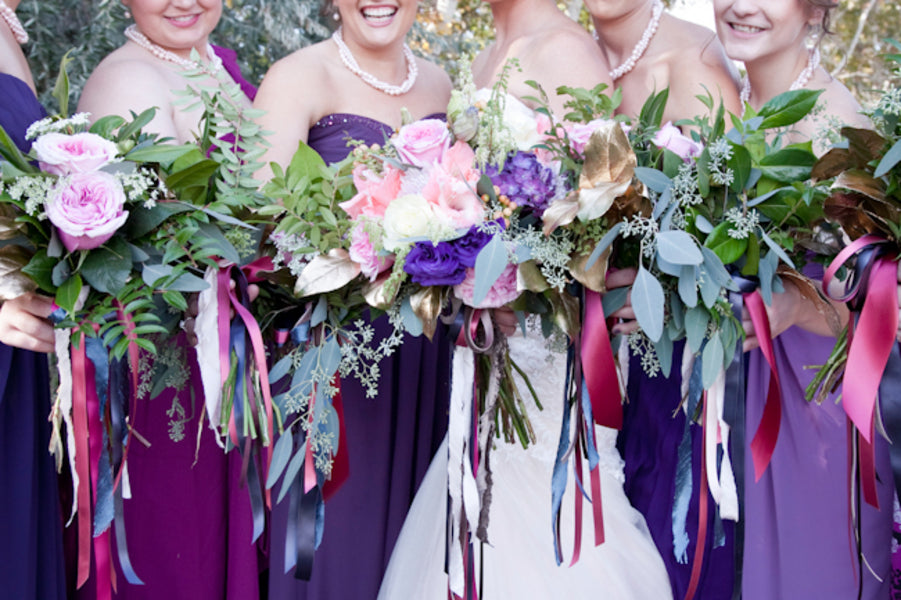 Purple bridesmaids dresses | Tana Photography