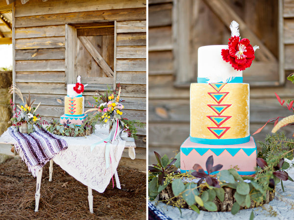 Southwestern wedding cake display | Andie Freeman Photography