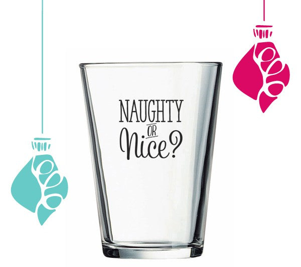 10 Unique Stocking Stuffers | Naughty or Nice Glass | Kate Aspen Blog