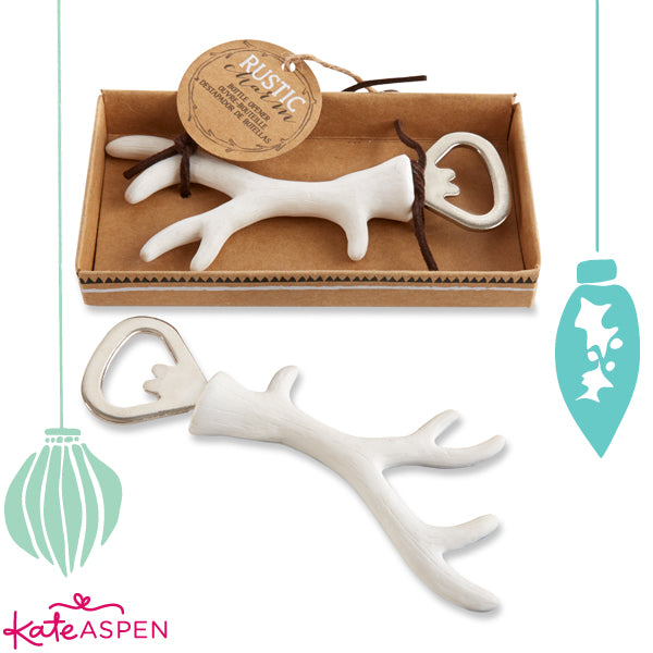 10 Unique Stocking Stuffers | Antler Bottle Opener | Kate Aspen Blog