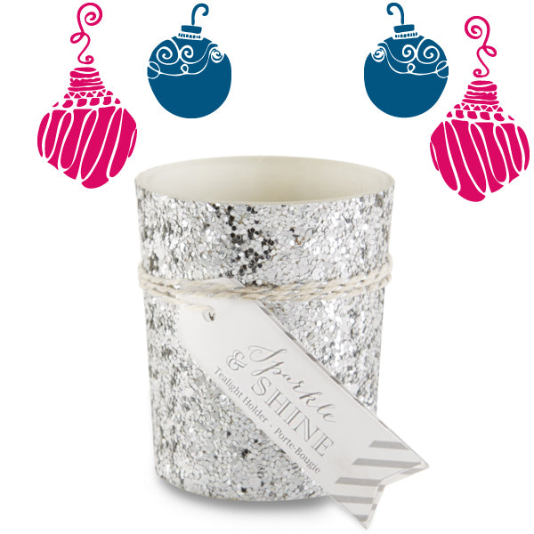 10 Unique Stocking Stuffers | Silver Glitter Tealight Holder | Kate Aspen Blog