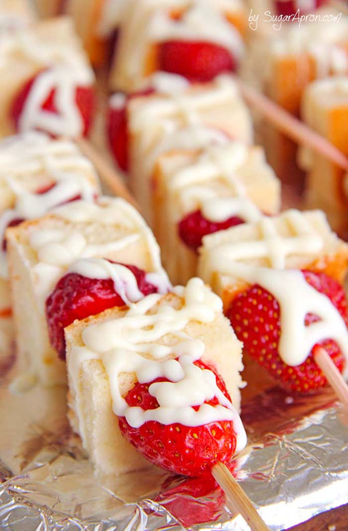 Strawberry Shortcake Kebabs | Creating The Perfect Backyard BBQ | Kate Aspen